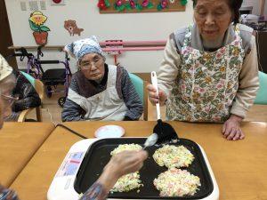 Okonomiyaki~(2020.1.27 デイサービスよりそい)