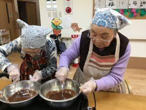 おやつ作り~ガトーショコラ編~(2020.2.10 デイサービスよりそい)